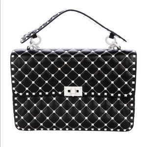 Valentino 2018 Free Rocketed Spike Large Chain Bag